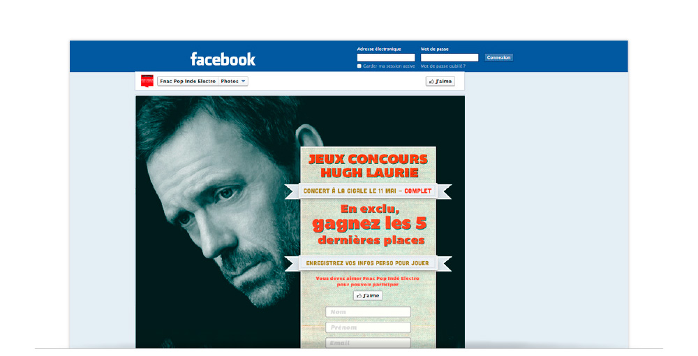 FanPage Hugh Laurie - proposition de design graphique